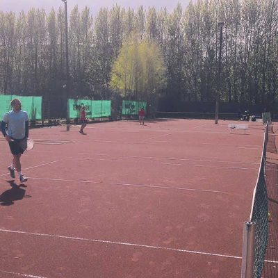 Tennisspieler Des TuS Hamburg Spielt Ein Tunier Auf Sand